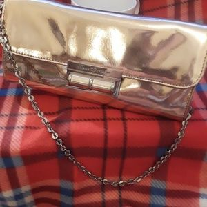 IVANKA TRUMP gold/bronze evening handbag